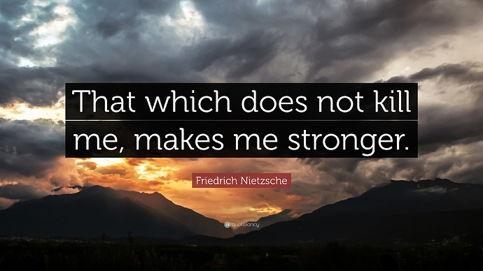 Image result for that which does not kill me makes me stronger images